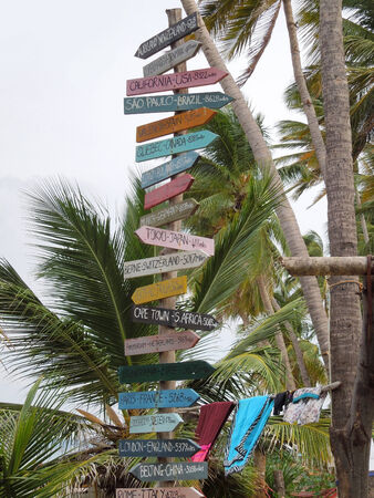international guidepost seen in Sri Lanka photo