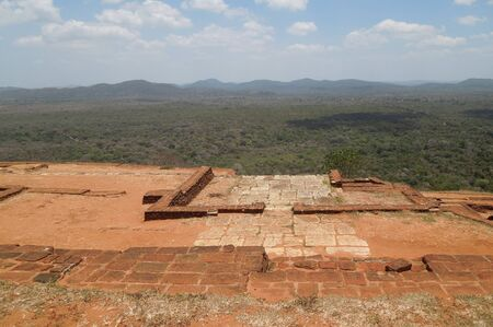 sunny impression around Sigiriya, a ancient palace located in the central Matale district in Sri Lanka
