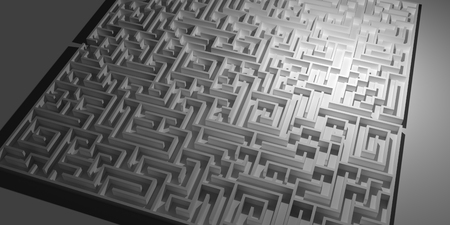 high angle view: high angle view of a complex labyrinth