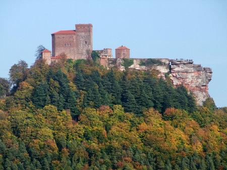 Trifels Castle near Annweiler in southwestern Germany Stock Photo - 35257558