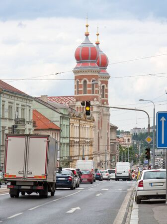 urbanized: city view of Pilsen, a city in the Czech Republic