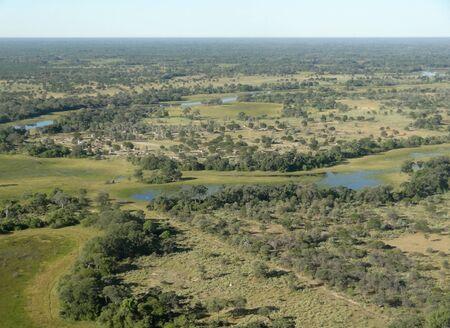 aerial view of the Okavango Delta in Botswana, Africa