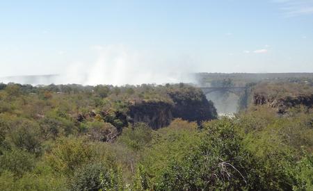 zimbabwe: las Cataratas Victoria en Zimbabwe, �frica Foto de archivo