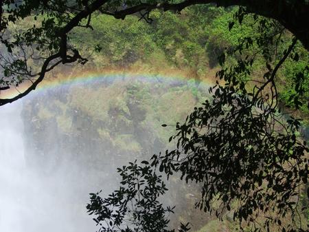 zimbabue: las Cataratas Victoria en Zimbabwe, �frica Foto de archivo