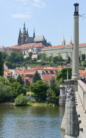 urbanized: impression of Prague, the capital and largest city in the Czech Republic Editorial