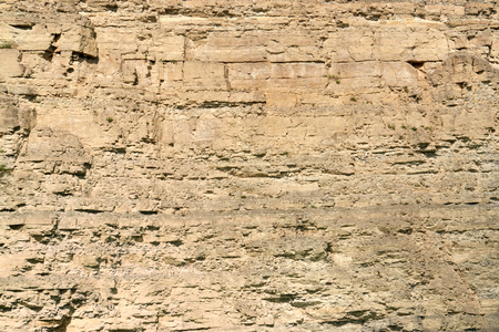 fissures: layered rock face seen on a quarry in Southern Germany