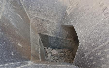hopper: detail shot of the feed hopper of a stone crusher