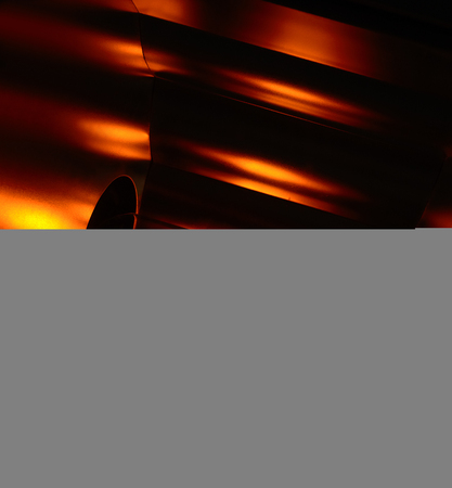 slight: slight glowing light bulb and reflector in dark ambiance