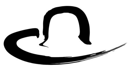 accouterment: black and white sketch of a symbolic hat Stock Photo