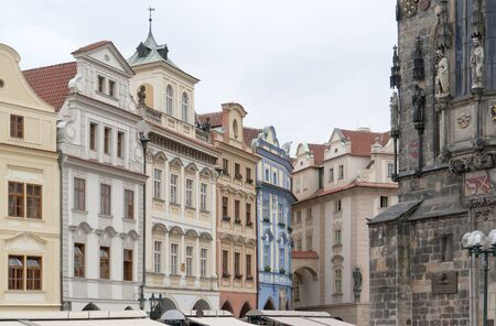 urbanized: city view of Prague, the capital of the Czech Republic Editorial