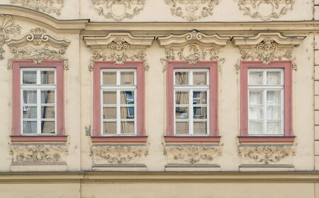 urbanized: architectural detail seen in Prague, the capital of the Czech Republic