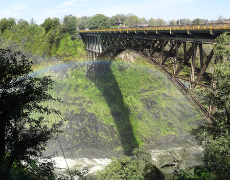zambezi: bridge at the Victoria Falls in Zimbabwe, Africa