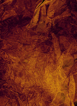 conceptional: abstract warm toned wrinkled brown background Stock Photo