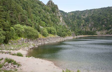lac: lake named Lac Blanc in the Vosges mountains in Alsace, France