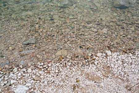littoral: littoral detail with stones and shallow water Stock Photo