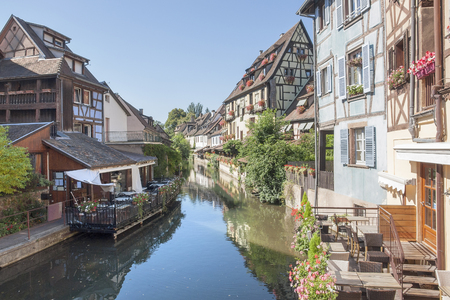 little venice: part of the old town in Colmar, Alsace, France, named little Venice