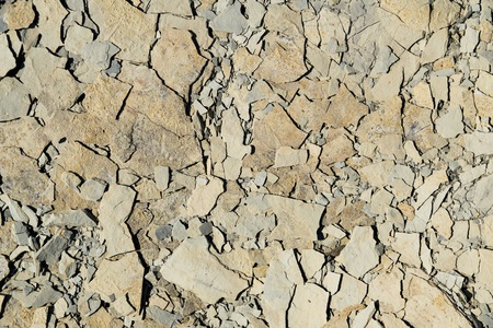 slivers: full frame abstract brittle stone detail Stock Photo
