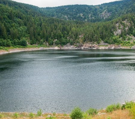 lac: lake named Lac Noir in the Vosges mountains near Orbey in Alsace, France