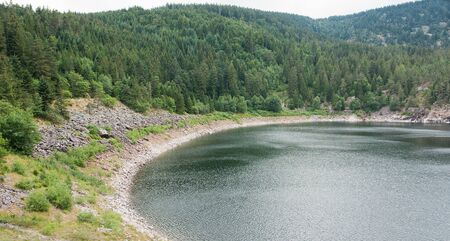 noir: lake named Lac Noir in the Vosges mountains near Orbey in Alsace, France