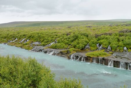 the series: Series of waterfalls in Iceland named Hraunfossar