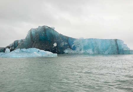 riparian: coastal scenery with iceberg seen in Iceland Stock Photo