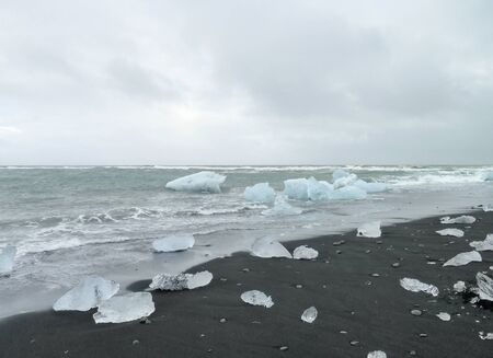 broken hill: coastal scenery with iceberg seen in Iceland Stock Photo