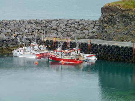 anchoring: anchoring boats seen in Iceland