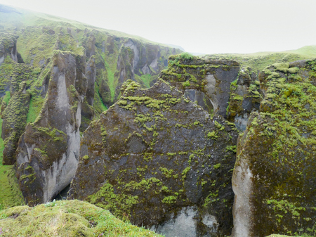 rock formation: mountain scenery with rock formation in Iceland