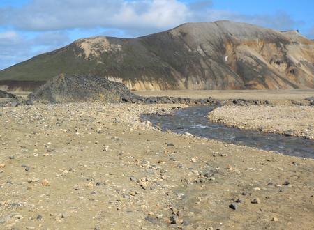 waterside: natural waterside scenery seen in Iceland Stock Photo