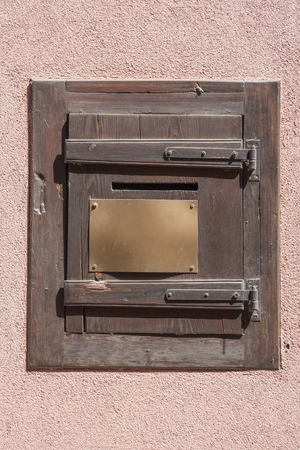 unlabelled: Architectural detail seen in Kaysersberg, a city in Alsace, France