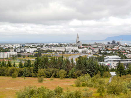 Reykjavik: panoramic view of Reykjavik, the capital of Iceland