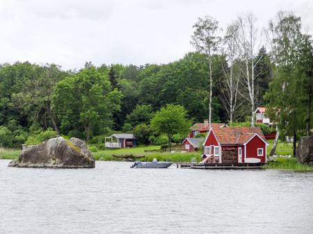 waterside: waterside scenery around Stockholm in Sweden Stock Photo