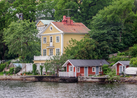 waterside: waterside scenery around Stockholm in Sweden Editorial