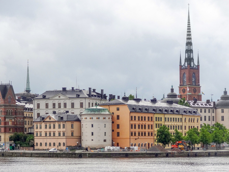 buildings city: City view of Stockholm, the capital of Sweden