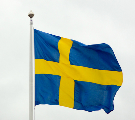 the swedish flag: the swedish flag in light grex ambiance