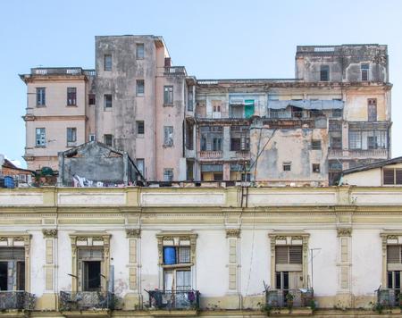 rundown: rundown house in Cuba, a island in the Caribbean sea Stock Photo