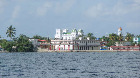 architecture bungalow: waterside scenery around Cienfuegos in Cuba, a island in the Caribbean Sea Editorial