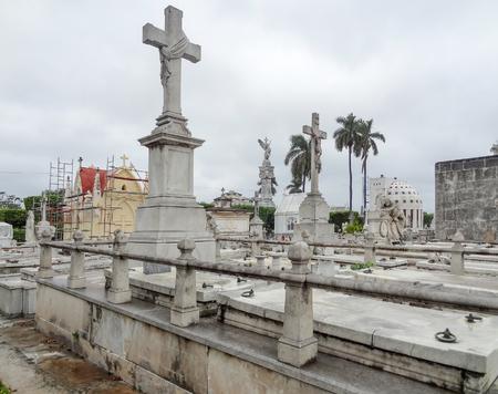 cristobal colon: scenery at the Colon Cemetery in Havana, Cuba