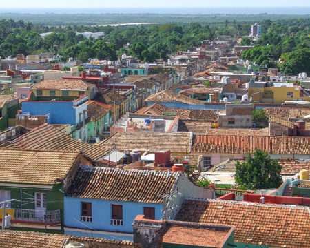 ambiance: city view of Trinidad, a town in Cuba in sunny ambiance