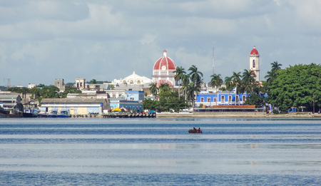 urbanized: waterside city view of Havana, the capital city of Cuba