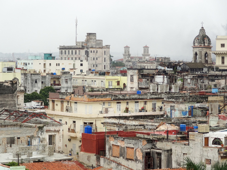 urbanized: aerial view of Havana, the capital city of Cuba