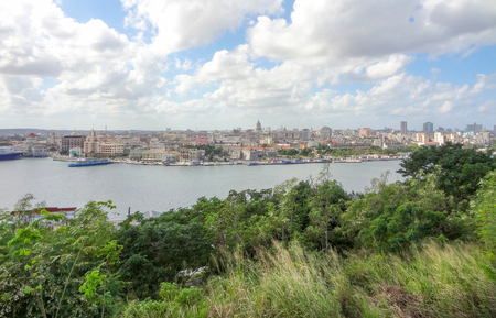 the capital city: waterside city view of Havana, the capital city of Cuba