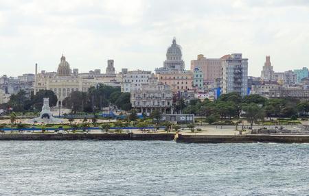 waterside: waterside city view of Havana, the capital city of Cuba