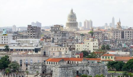 ruinous: aerial view of Havana, the capital city of Cuba