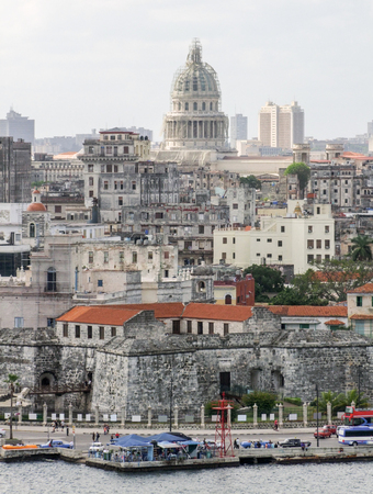 town house: aerial view of Havana, the capital city of Cuba