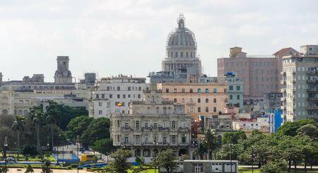 capital building: aerial view of Havana, the capital city of Cuba