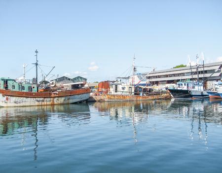 waterside: waterside harbor scenery in Havana, the capital city of Cuba