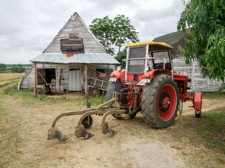 traction engine: rural farming scenery seen in Cuba Stock Photo