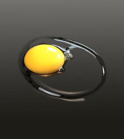 sunnyside: a sunnyside up egg in dark gradient back