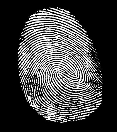 allegory painting: a white fingerprint in black back